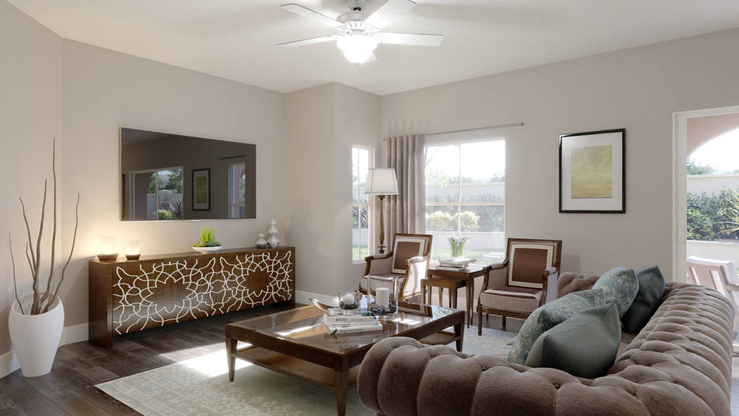 In The Paseos neighborhood of Summerlin, Edward Homes is building the Coronado condominiums. (Edward Homes)