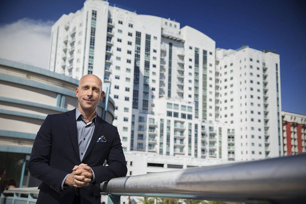 Juhl Uri Vaknin, partner, KRE Capital LLC, at Juhl in downtown Las Vegas.