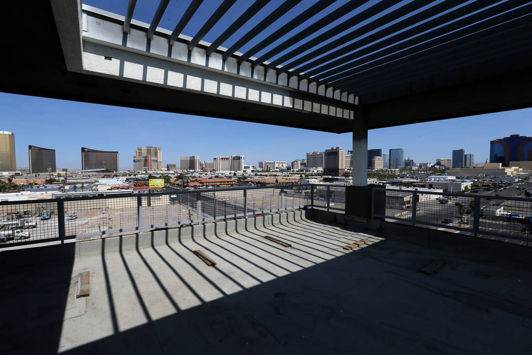 The view from the rooftop of the sky lounge at Lotus apartment complex on Spring Mountain Road near Valley View Boulevard. (K.M. Cannon Las Vegas Business Press)