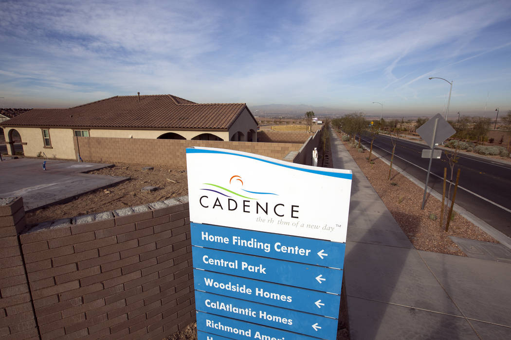 Cadence, a Henderson master-planned community, continues to develop as Las Vegas new home prices heat up. (RJNewHomes.Vegas file photo)