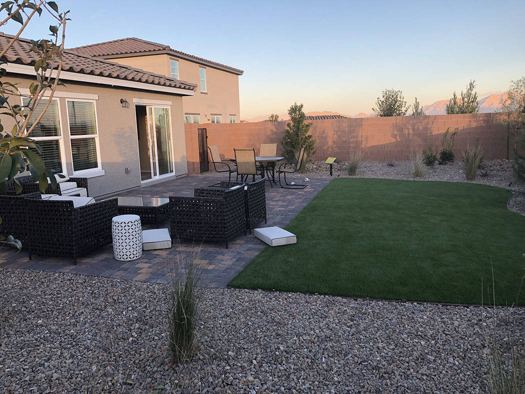 The North Las Vegas smart house has a patio. (Cox Communications)