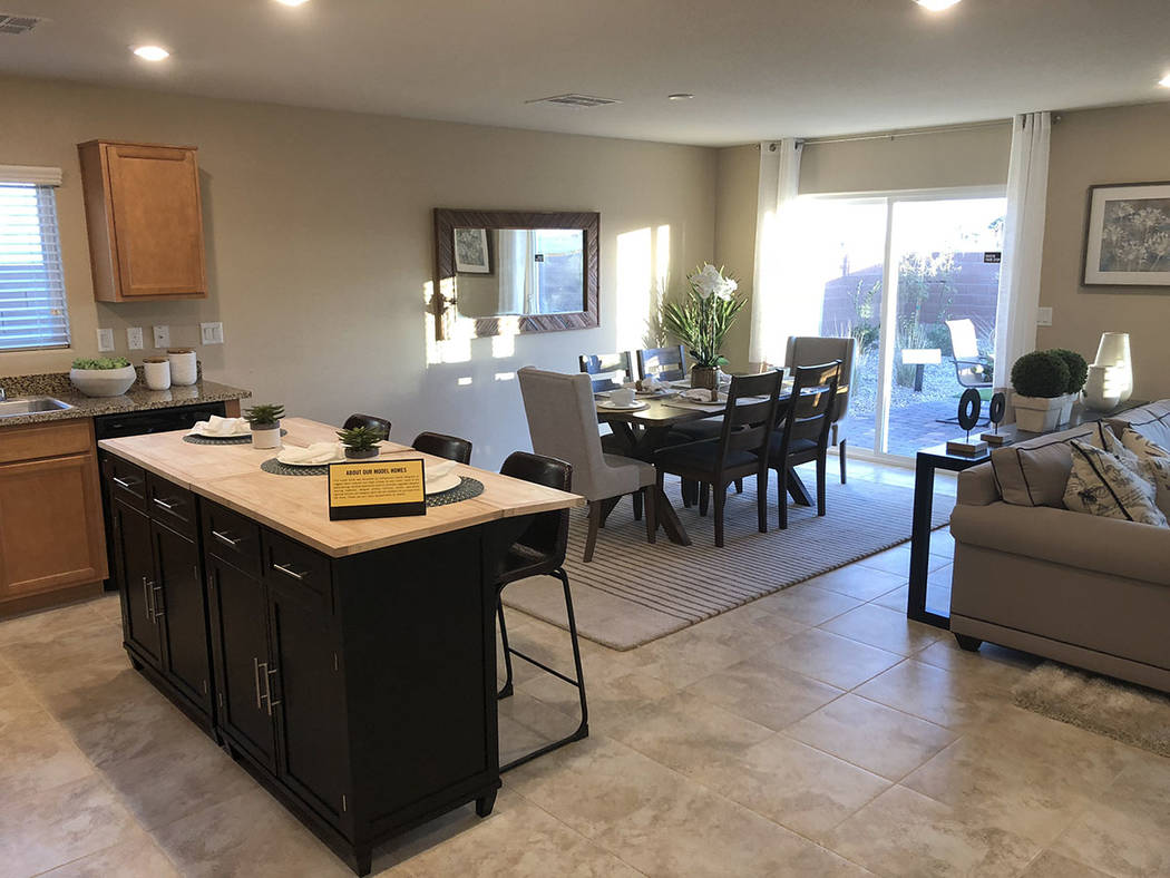 The kitchen in KB Home's smart home. (Cox Communications)