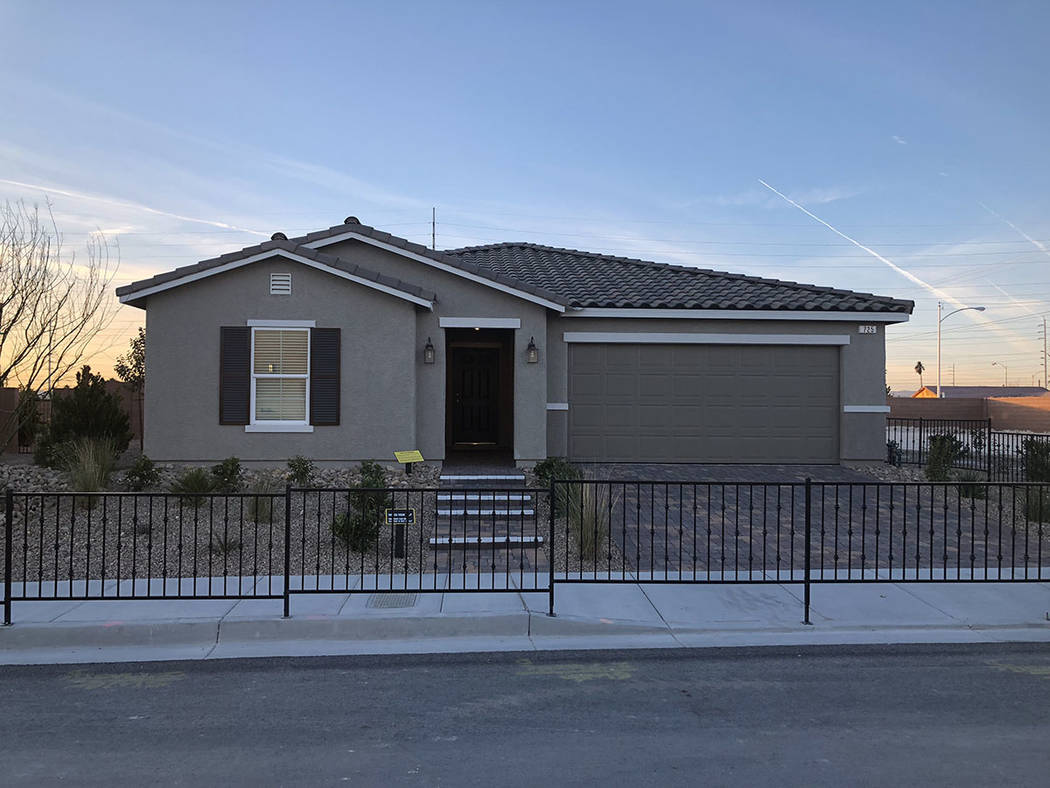 This KB Home smart home in North Las Vegas shows off Wi-Fi devices that can help elderly residents. (Cox Communications)