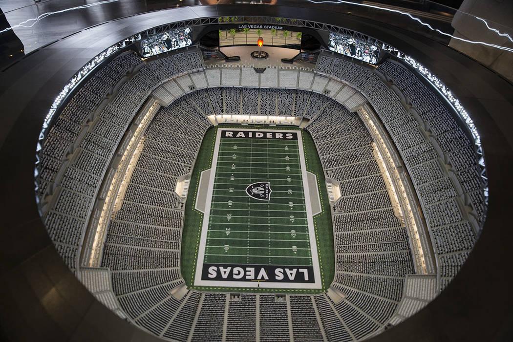 A Raiders stadium model.( Erik Verduzco Las Vegas Business Press)