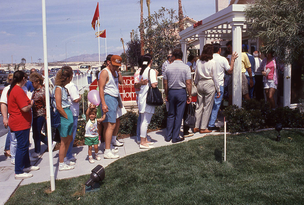 Pardee Homes Eldorado's grand opening in 1990 drew a large crowd of homebuyers at the start of the Las Vegas housing boom.