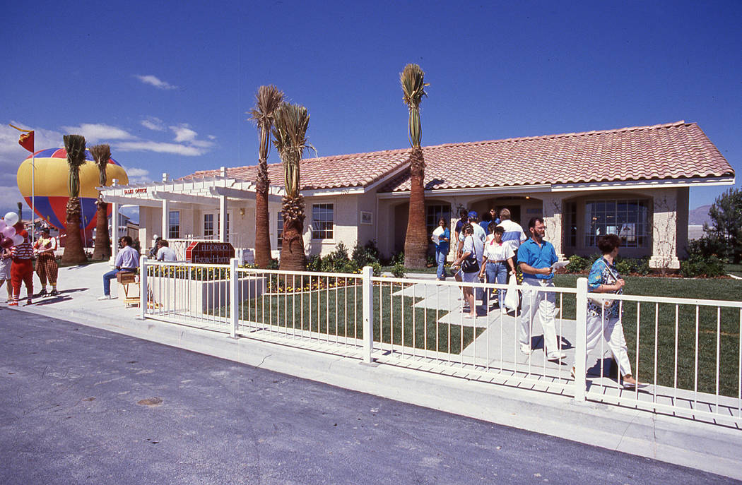 Pardee Homes' Eldorado in North Las Vegas held its grand opening in April 1990. (Pardee Homes)