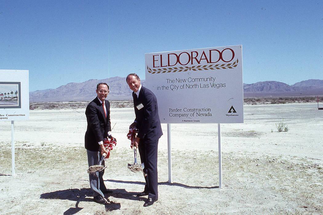 THEN: Eldorado, a master-planned community in North Las Vegas broke ground in 1989. (Pardee Homes)