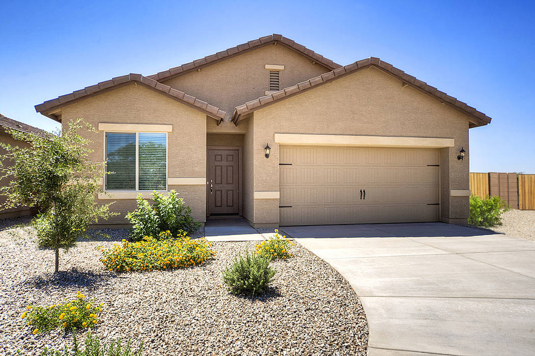 LGI Homes closed on 102 partially improved lots in February at East Lake Mead Boulevard and Dolly Lane. Construction started in May. (LGI Homes)