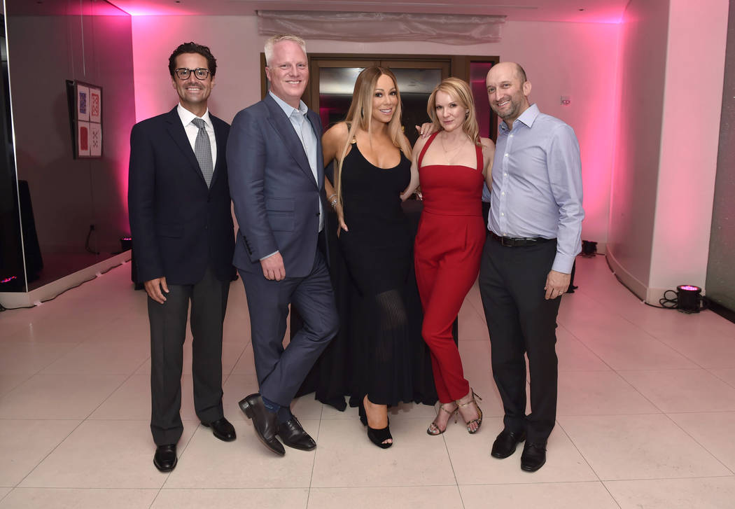 Amanda Moore has been promoted to vice president of marketing for Live Nation Las Vegas. From left, Caesars Palace Vice President and General Manager Sean McBurney, Caesars Entertainment Chief Mar ...