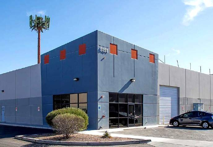 A sale to McBeath Holdings LLC. The 9,845-square-foot industrial property is at 5151 W. Oquendo Road. The transaction value was $1,453,000. (Courtesy)