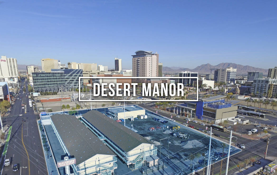 Desert Manor, a mixed-use investment property on a city block in downtown Las Vegas, has sold for $11,525,000. (Courtesy)