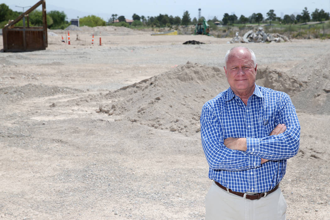 Gary Mayo, group president for Toll Brothers, at the site of the future buildings at the Mira Villa condo complex in Las Vegas. (Erik Verduzco Las Vegas Business Press)