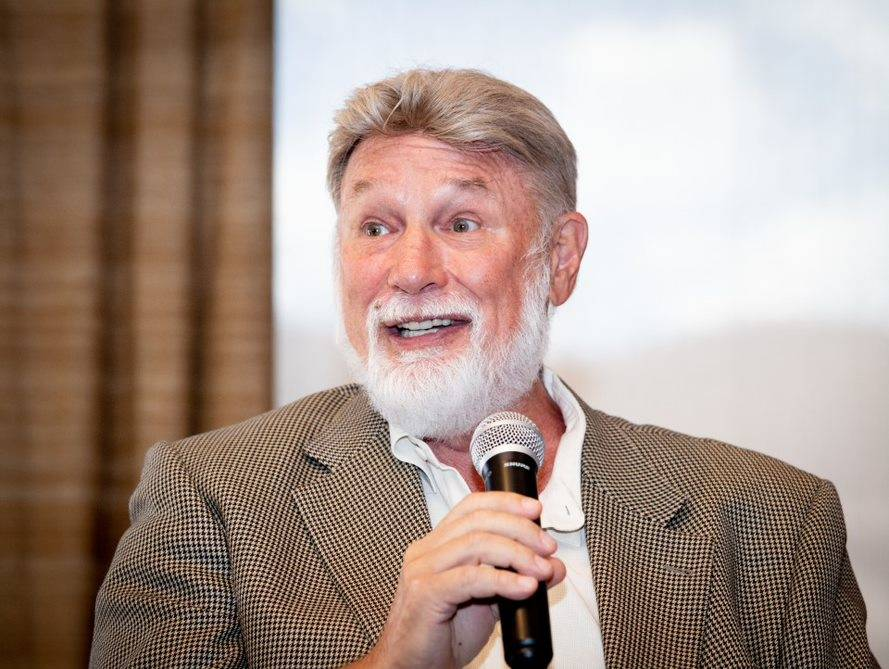 Las Vegas developer Rich MacDonald talks at a Sept. 5 National Association of Real Estate Brokers event held at DragonRidge Country Club in Henderson. (Tonya Harvey Las Vegas Business Press)