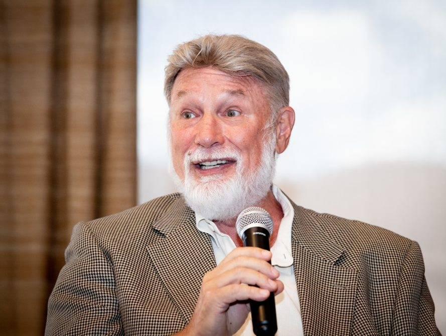 Las Vegas developer Rich MacDonald talks at a Sept. 5 National Association of Real Estate Brokers event held at DragonRidge Country Club in Henderson. (Tonya Harvey Las Vegas Business Press)