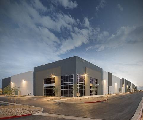 A newly constructed 155,790-square-foot class A industrial building at 4325 Corporate Center Drive has been sold for $16M. (Colliers International — Las Vegas)