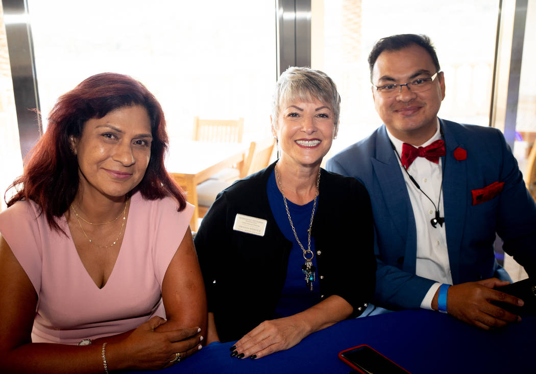 Shamila Mackie, real estate investor; Amanda Wernick, global training specialist for Berkshire Hathaway; and Sherwin Escanuela, a Realtor with Luxe Estates and Lifestyles, spoke at a luxury real e ...