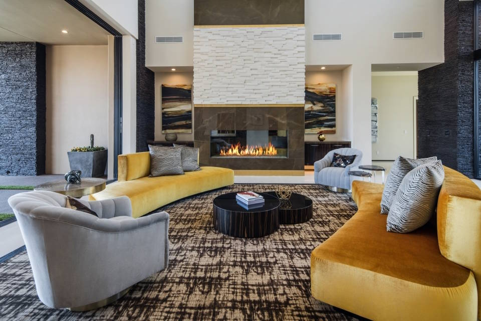 Modern design and splashes of bold colors play a part in the look of Las Vegas homes. (Jennifer Sher Interior) Design