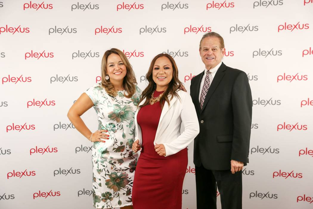 Erica Valderrama, center, of Las Vegas is a featured presenter during the Plexus Worldwide Opportunity Tour. She is joined by Adriana Camberos and Christopher Pair both of Plexus Worldwide.