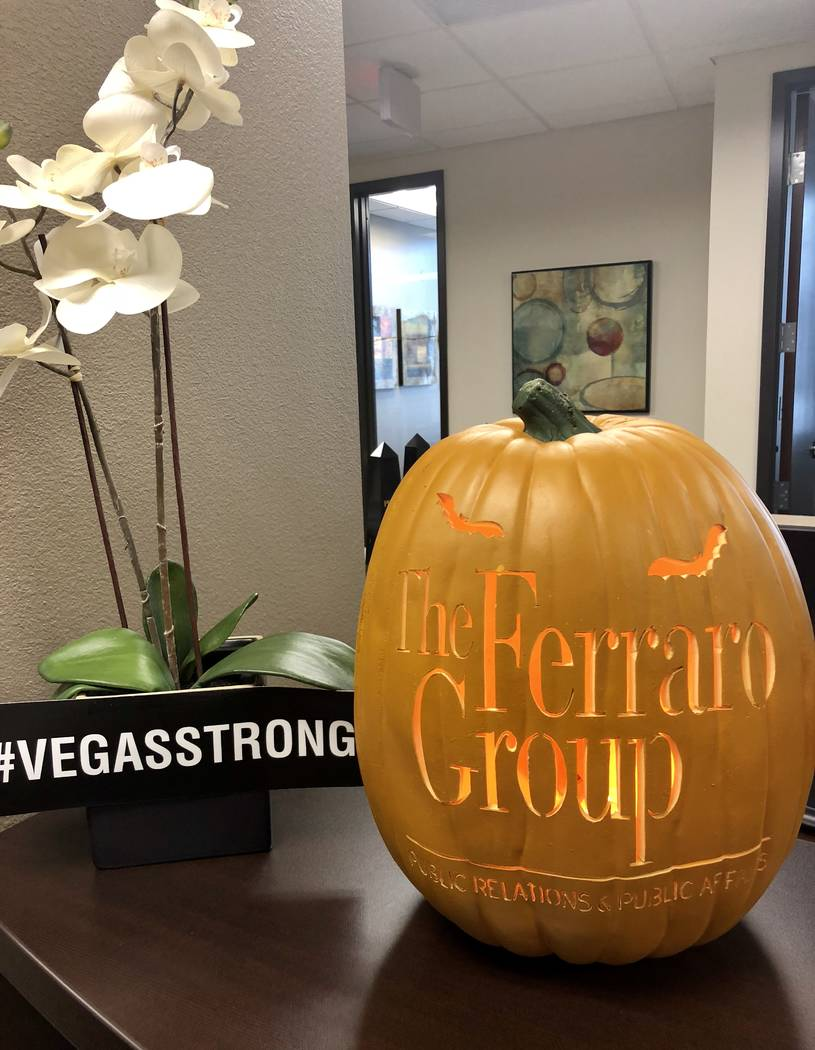 This special pumpkin is a yearly attraction at the office of The Ferraro Group Public Relations & Public Affairs. (The Ferraro Group)