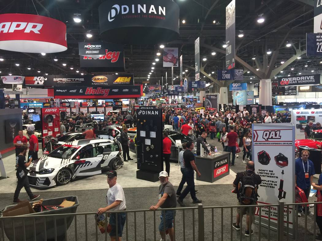 The 2018 Specialty Equipment Market Association (SEMA) and AAPEX events were held in Las Vegas Oct. 30-Nov. 2. (Mike Henle Las Vegas Business Press)