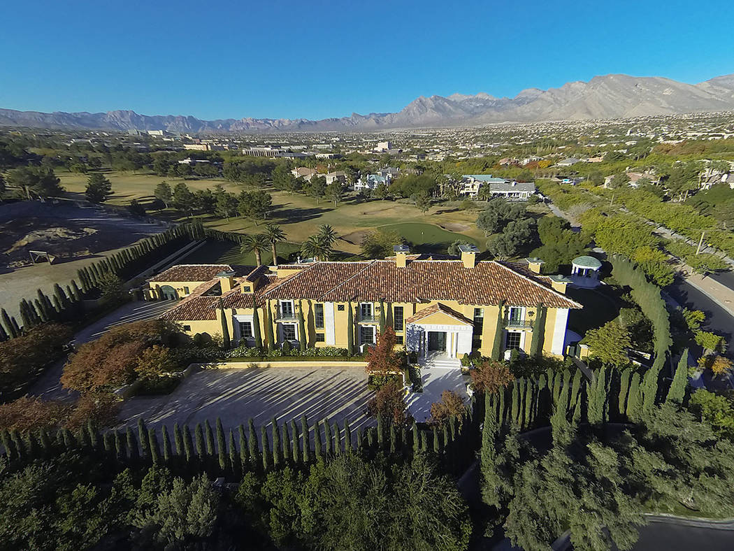 1717 Enclave Court in Country Club Hills 2, Summerlin sold for $13M. (Synergy Sothebys)