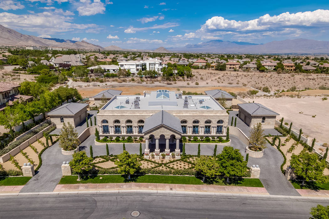 9504 Kings Gate Court in Queensridge sold for $10M. (Luxury Estates International)