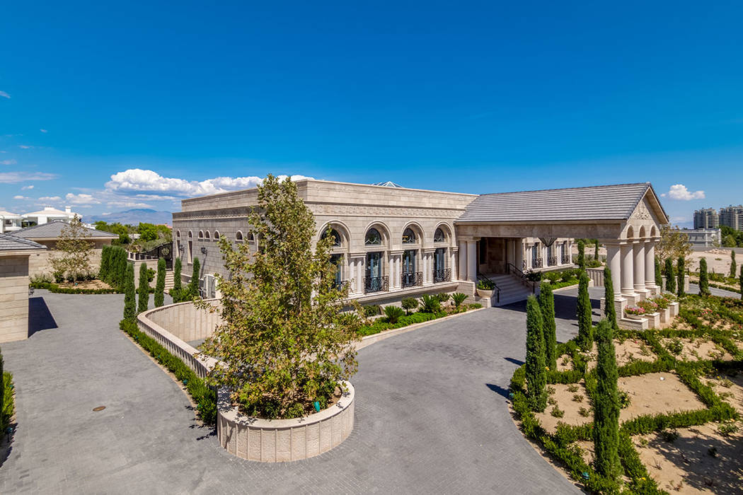 9504 Kings Gate Court in Queensridge sold for $10M. (Luxury Estates International)