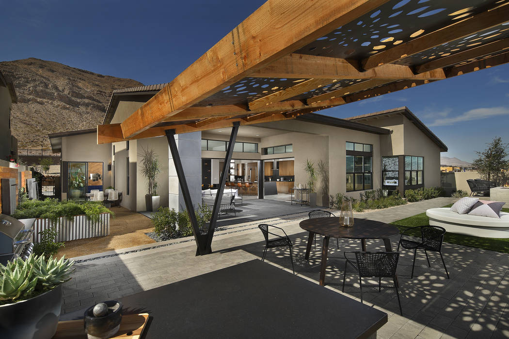 Homes in Nova Ridge in Summerlin have a modern design. (Pardee Homes)