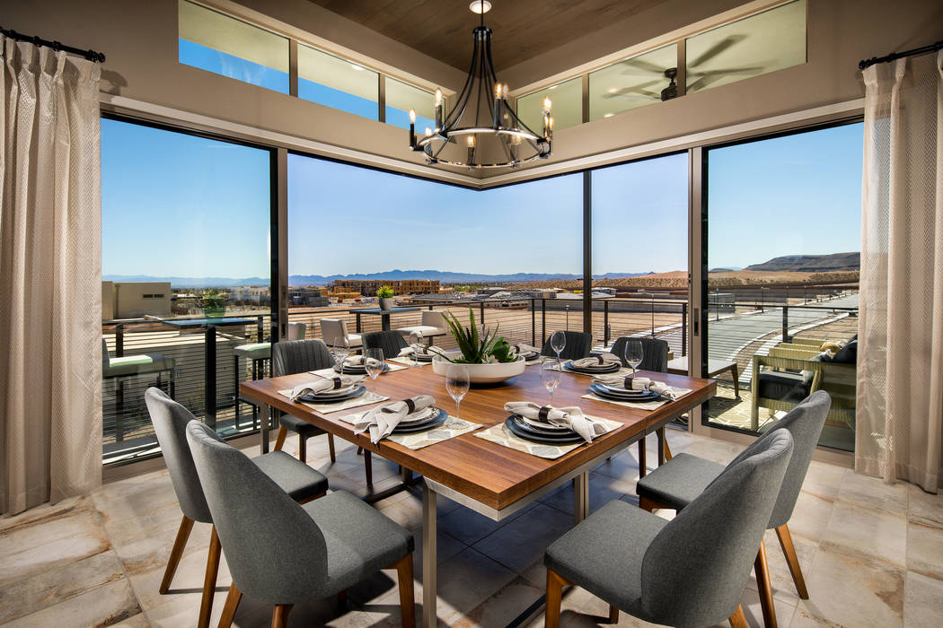 The age-qualified community, Trilogy in Summerlin by Shea Homes, offers efficient, modern living spaces. (Trilogy)