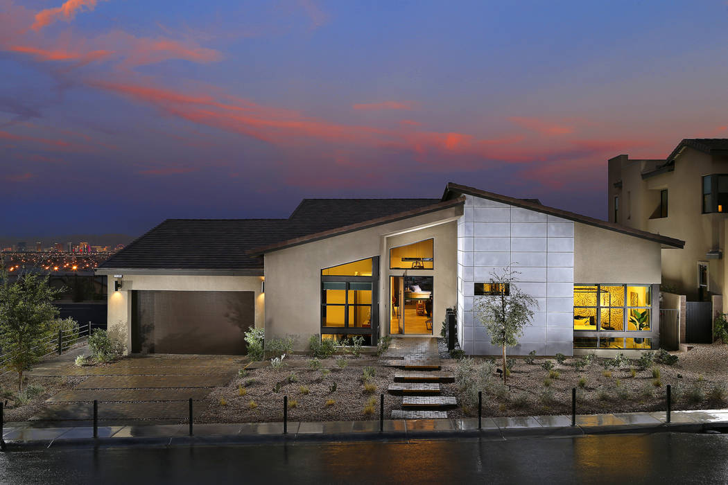 Homebuilder Pardee Homes has been creating a modern look for its product for a few years. Shown is a home at Nova Ridge in Summerlin. (Pardee Homes)