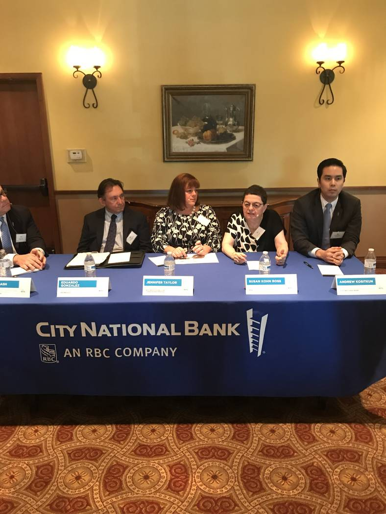 Las Vegas Metro Chamber of Commerce and City National Bank hosted an event on the effects of tariffs on local businesses. (Buck Wargo/Las Vegas Business Press)