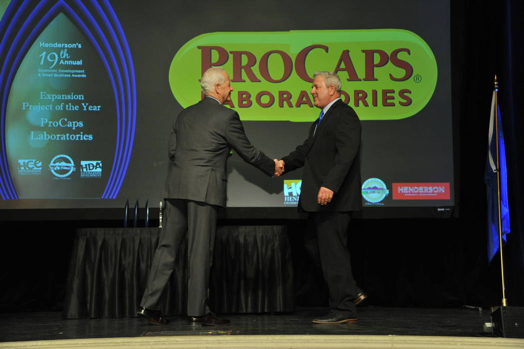 The Expansion Project of the Year award went to ProCaps Laboratories. (City of Henderson)