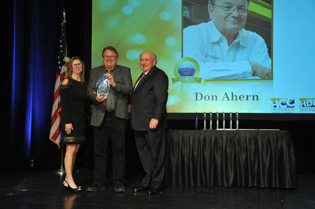 The Private Sector Person of the Year Award went to Don Ahern, owner of Ahern Rentals. (City of Henderson)