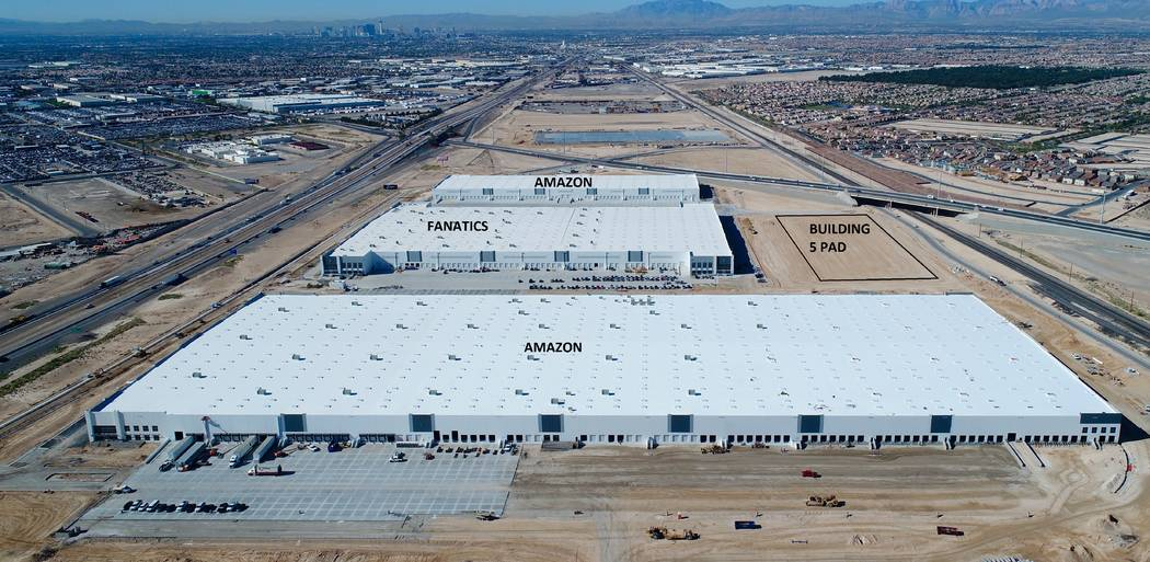 This rendering shows a 191,026-square-foot industrial building at Northgate Distribution Center near Lamb Boulevard and Interstate 15. More than 2.2 million square feet has already been completed ...