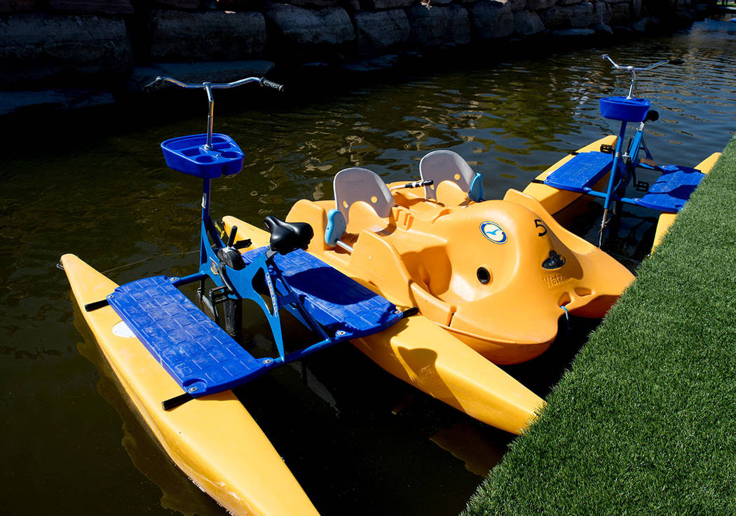 Paddle boats are available for rent. (Tonya Harvey Las Vegas Business Press)