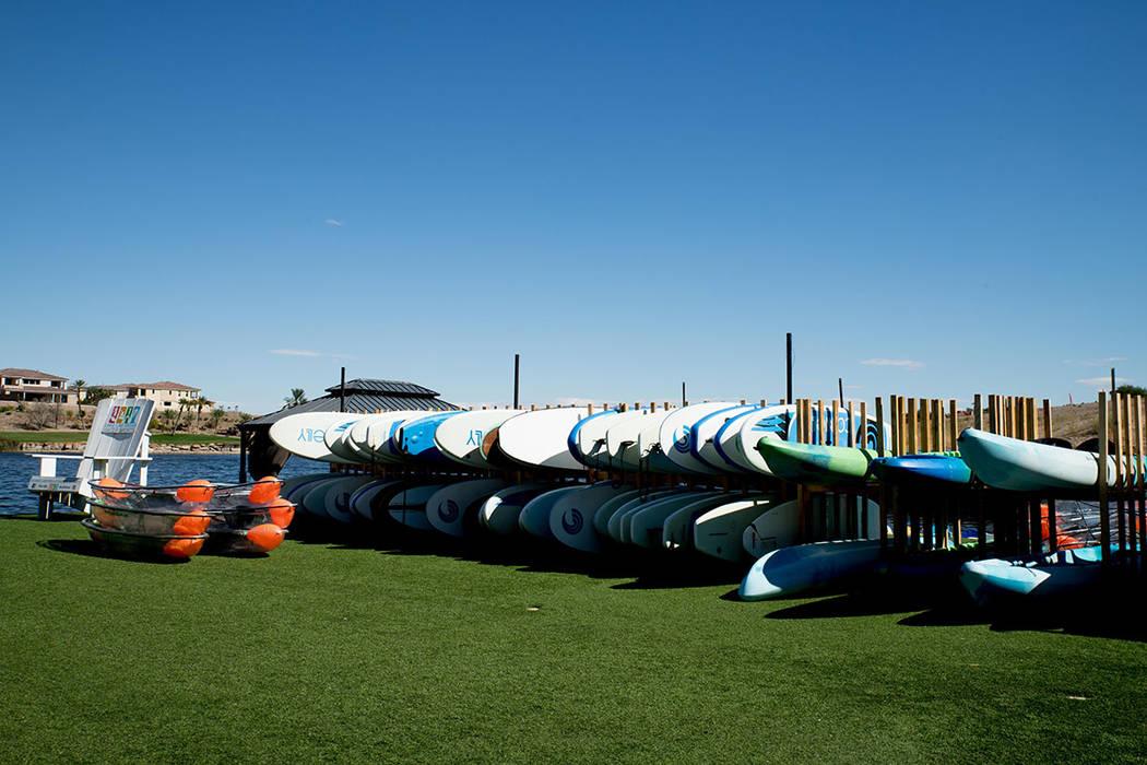 Lake Las Vegas hosts several rowing clubs. (Tonya Harvey Las Vegas Business Press)
