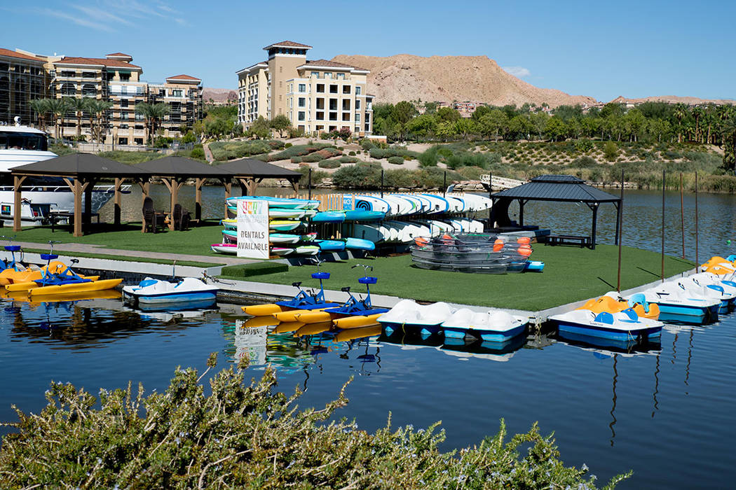Watersports is a popular amenity at Lake Las Vegas. (Tonya Harvey Las Vegas Business Press)
