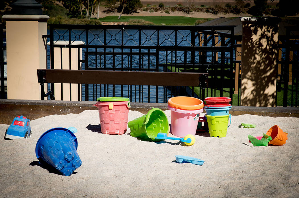 A day at the beach is everyday at Lake Las Vegas. (Tonya Harvey Las Vegas Business Press)