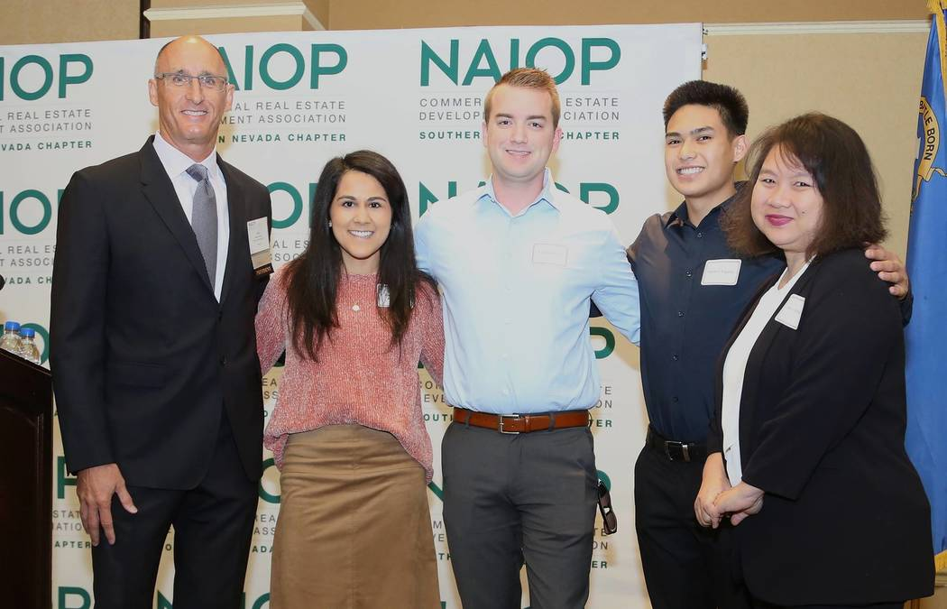 NAIOP Southern Nevada has announced the winners of its real estate scholarship program. Each of the five UNLV students received $1,000 toward their college education.