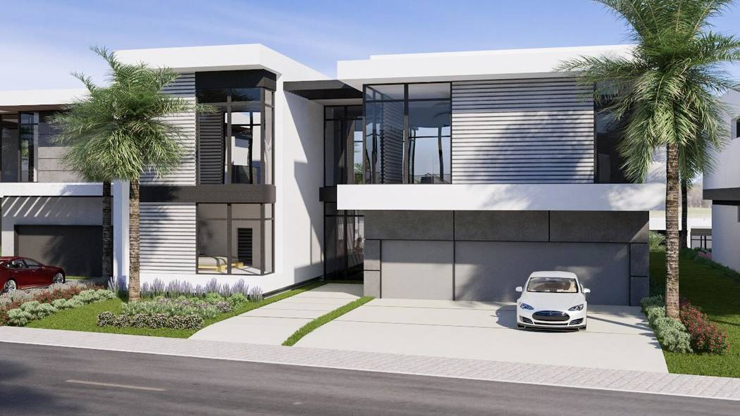 The Hills development near McDonald Highlands in Henderson is under construction. This rendering shows a model home. (Growth Luxury Homes)