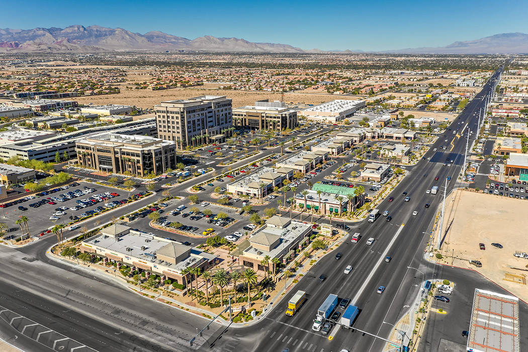 The Sunset Pavilion Shopping Center on South Rainbow Boulevard sold for $19.5 million. (Courtesy)