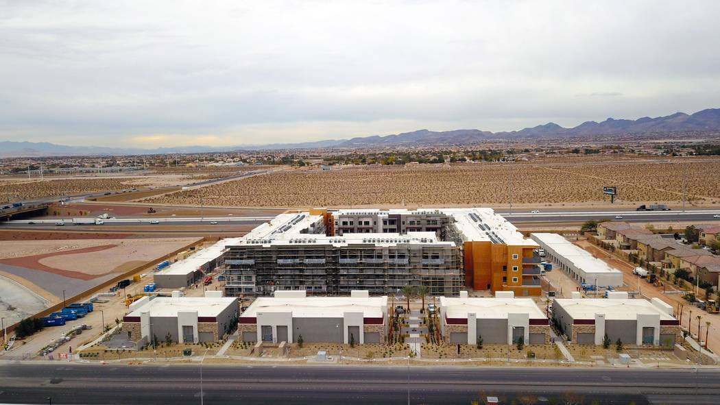 Courtesy Tru Development Co. Aerial shot of Kaktus Life I apartment community, currently under construction in the Southern Highlands area. Pre-leasing is set to begin in February.