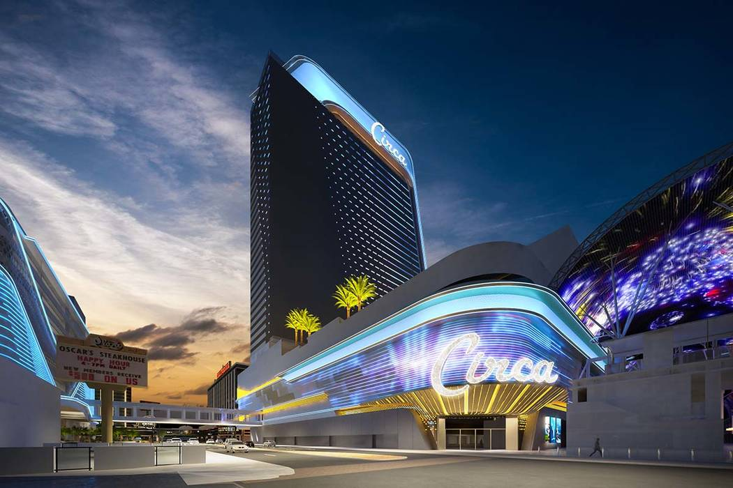 Rendering of Circa, a casino-hotel resort being built in downtown Las Vegas by Derek and Greg Stevens. (Circa Las Vegas)