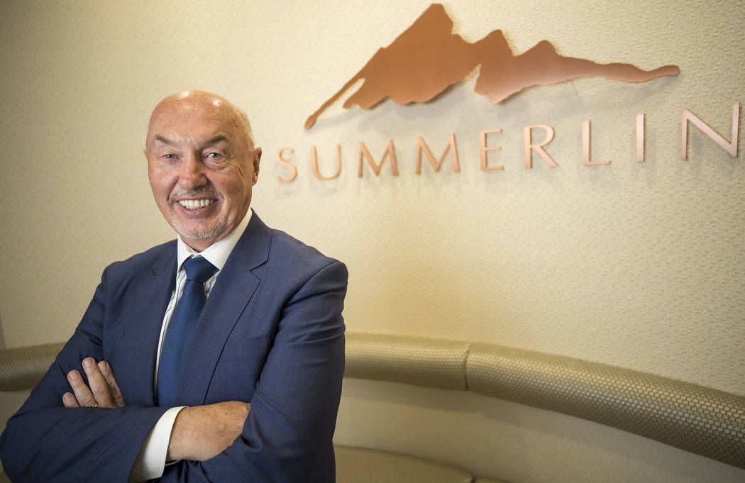 Summerlin President Kevin Orrock poses at The Howard Hughes Corp. headquarters Nov. 14, 2017. Summerlin was recently ranked No. 3 in sales nationwide. (Richard Brian/Las Vegas Business Press)