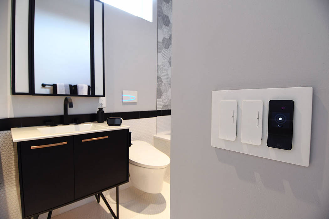 Kohler smart toilets are in each of the two baths and can recognize the presence of movement. (KB Home)
