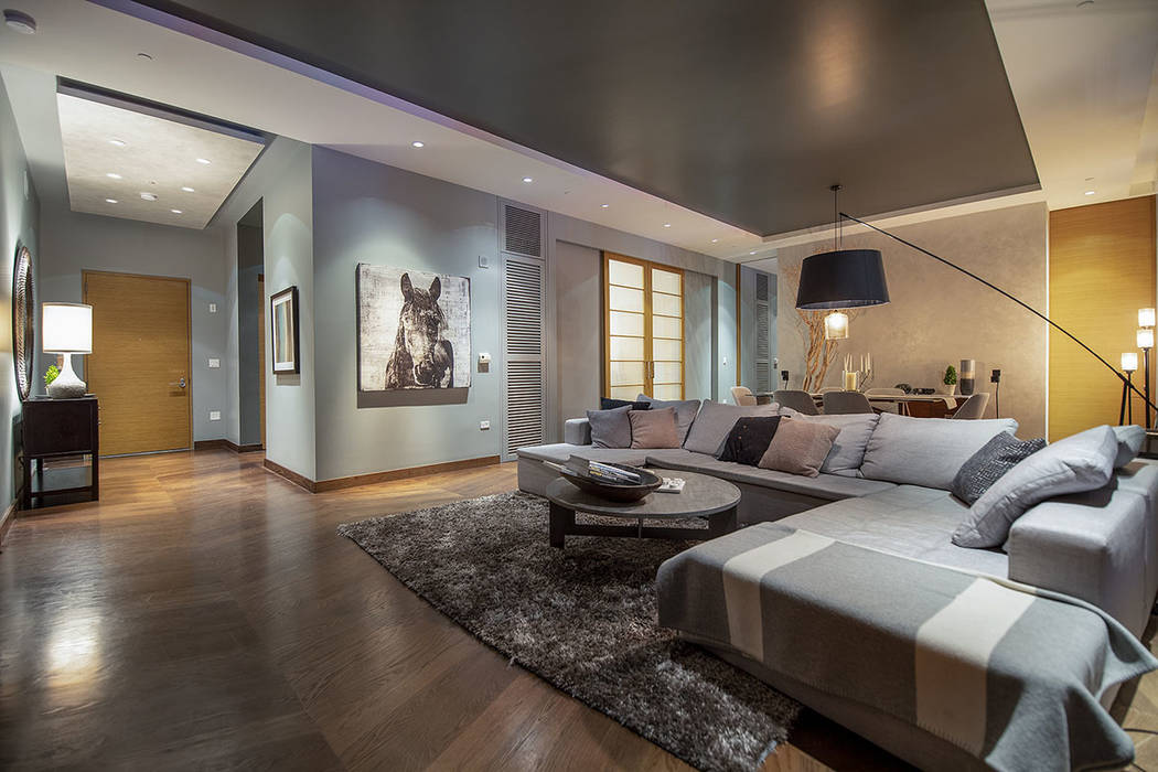 The living room in unit 4504 in Waldorf Astoria. (Acclaim)