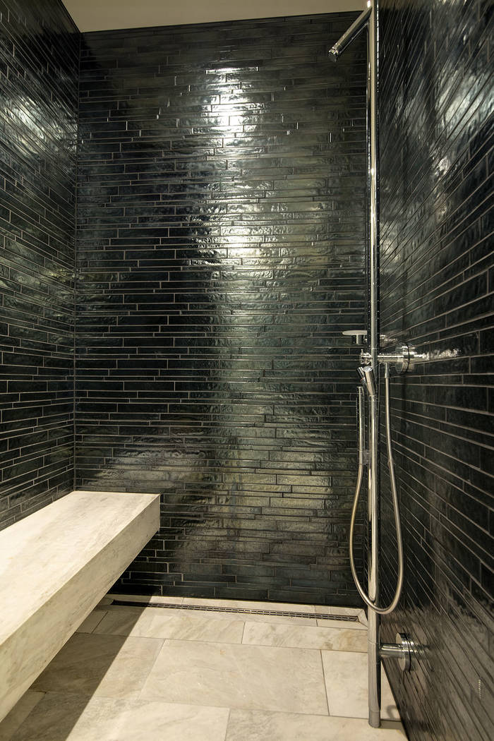 The master shower in unit 4504 in Waldorf Astoria. (Acclaim)