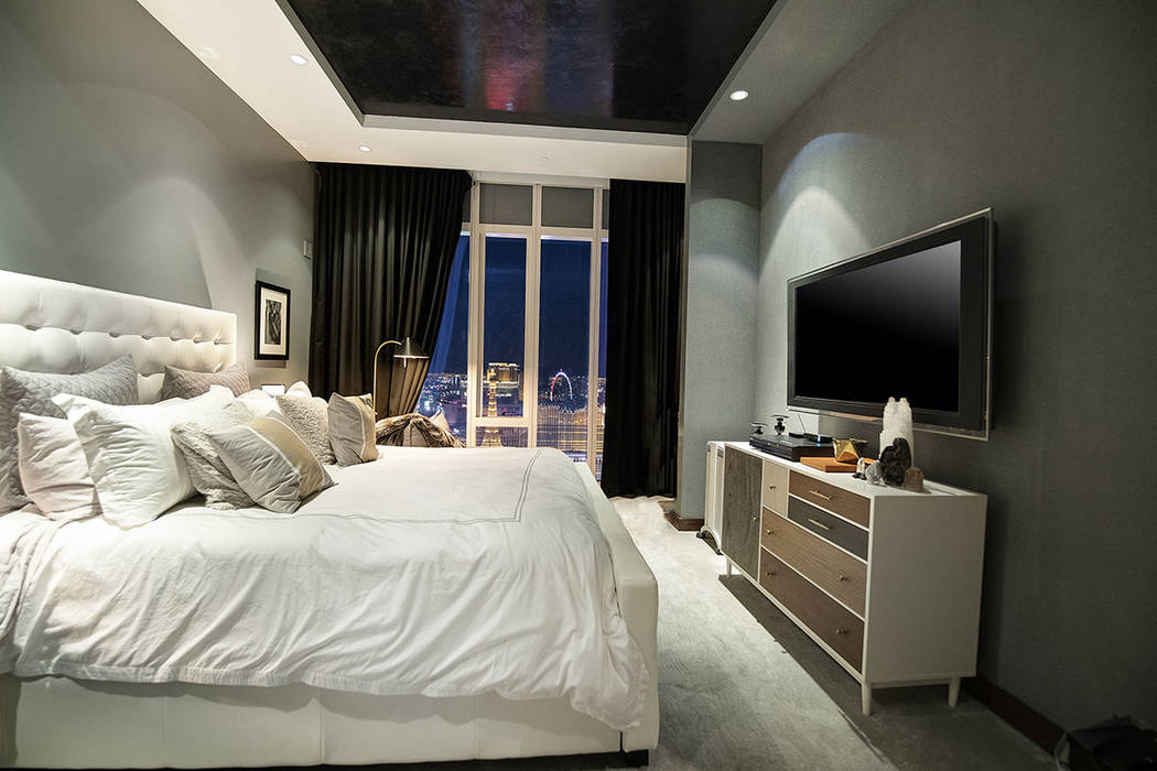 One of the bedrooms in unit 4504 in Waldorf Astoria. (Acclaim)
