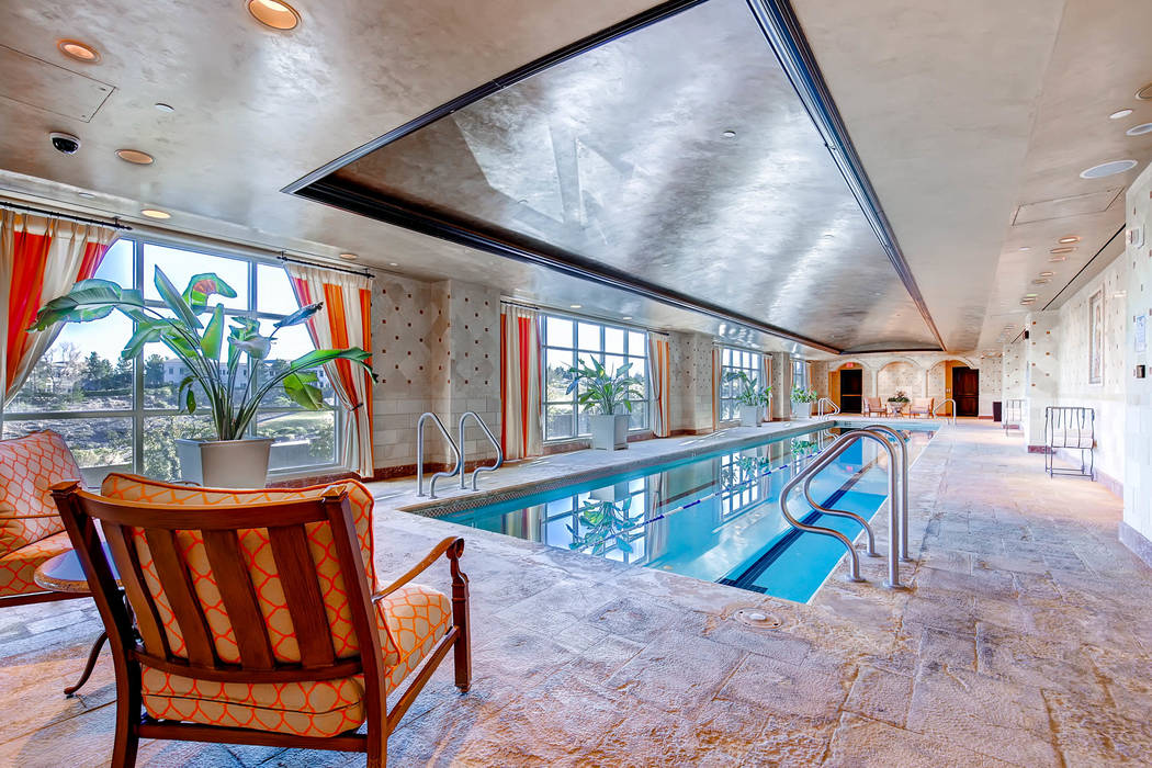 One Queensridge Place has an indoor pool area. Two of the property's condos hit the Top 10 list this year. (Char Luxury Real Estate)