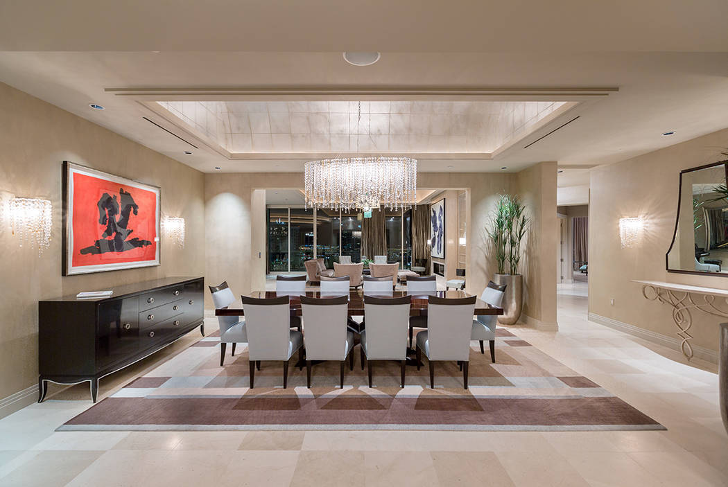 The $5.5 million sale of an 8,205 square-foot penthouse at Turnberry Place was the highest selling high-rise condo in Las Vegas last year. (Ivan Sher Group)